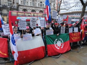 Demonstration for 34 at the High Commission of India in London