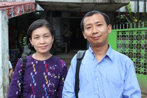 May Sabe Phyu aka Hkawn Htoi, Maran Jaw Gun, court hearing 27th Nov 2012, credit Mark Farmaner Burma Campaign UK