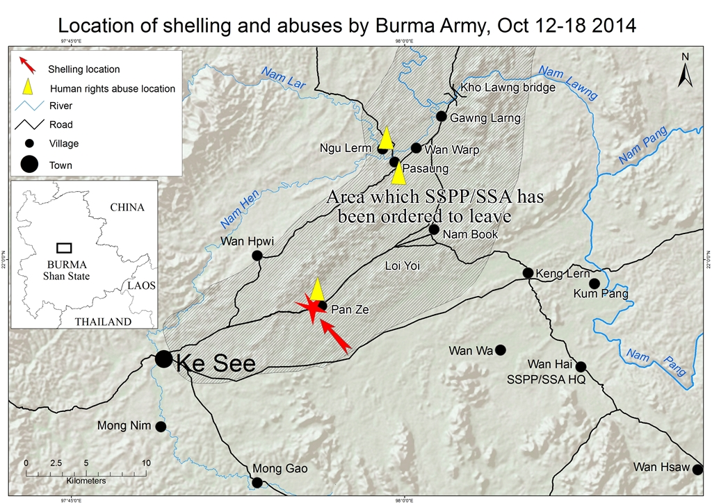 location of shelling and abuses by burma army oct 12-18 2014_eng1