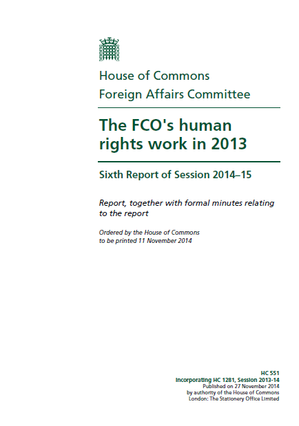 The FCO's human rights work 2013