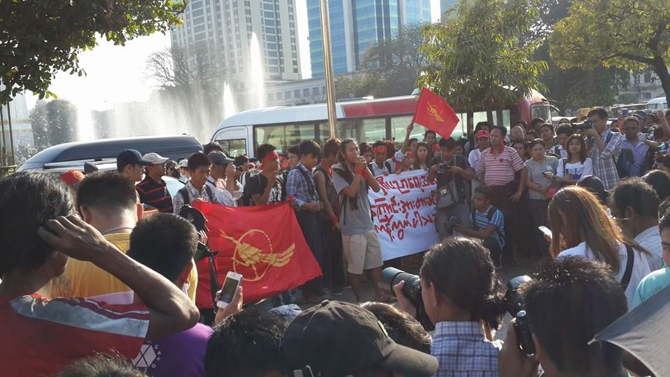 Solidarity Protest in Rangoon