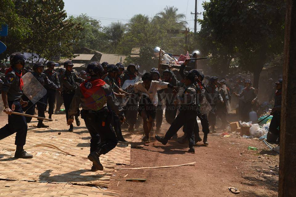 One student trying to escape crackdown at Letpadan