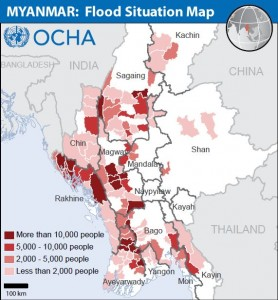 Flood in Burma