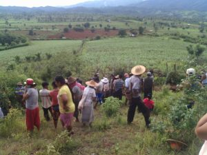 07-13-2016-Villagers finding the site where 5 bodies were buried on June 29 2016